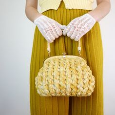 1950s Handbag  50s Purse  Basket Purse by jessjamesjake on Etsy, $55.00