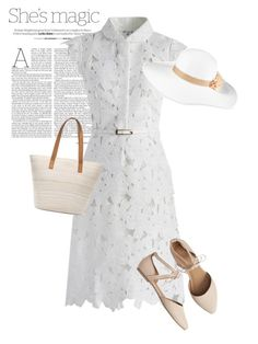 """dress"" by masayuki4499 ❤ liked on Polyvore featuring Nicole, Chicwish, Gap, Chico's and August Hat"