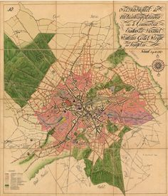 Bijlage 10 bij de uitbreidingsplannen van de gemeenten Eindhoven, Woensel, Stratum, Gestel, Strijp en Tongelre. Overzichtskaart. Zie ook nummer 56099. Auteur(s)Cuypers, J.Th.J.; Kooken, L.J.P. - 1918 - 1920