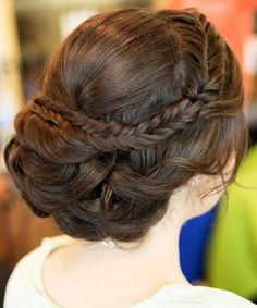 Super Gorgeous Updo Hairstyles with Little Braids for Prom