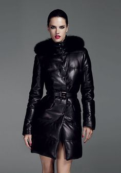 Designer Leather Fashions Alessandra Ambrosio Loewe Fall Winter 2011