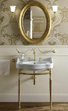 Sbordoni white + gold unit
