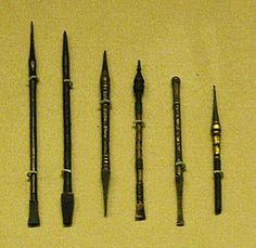 Roman writing instruments.