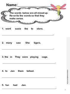 Printables Language Arts Worksheets For 3rd Grade language arts worksheets 1st grade davezan davezan