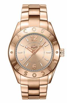 Lacoste 'Biarritz' Logo Bezel Bracelet Watch available at #Nordstrom
