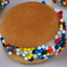 Healthy snack for kids!!  Spread some peanut butter on a vanilla wafer and sliced banana, Roll in sprinkles and tada!!! A fun yet healthy snack for kids:)