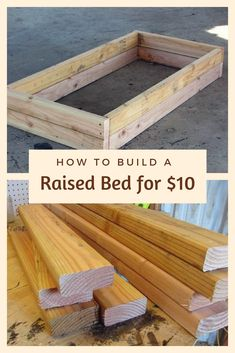 How to Build a Raised Bed for 10 This DIY backyard idea takes just 20 minutes to make but itll make you smile every time you see it ideas diy Diy Garden Projects, Outdoor Projects, Raised Flower Beds, Raised Bed Diy, Diy Raised Garden Beds, Raised Bed Gardens, Wood For Raised Beds, Raised Herb Garden, Building A Raised Garden