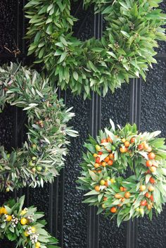 Olive wreaths. Simple and beautiful.