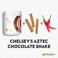 AztecHot Chocolate using Shaklee Life Energizing Shake Mix, by Chelsey Holm   2 Scoops Shaklee Life Energizing Shake Mix, Chocolate 8 oz. skim milk  1 tsp. vanilla extract Dash of cayenne Dash of cinnamon  Enjoy hot by heating the milk or cold by blending with ice. #ShakleeShake #recipe