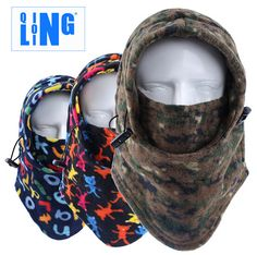Windproof Outdoor Sports Fleece Face Mask Ski Snowboard Hood Hat Neck Warmer bike Cycling Cap Thermal Balaclavas Scarf