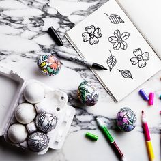 These Coloring-Book Eggs Are the Coolest Easter Craft Ever