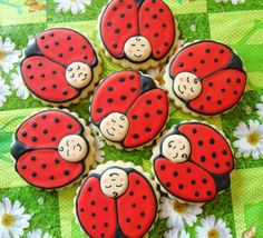 Cute idea for painted rock Lady Bugs