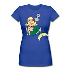 tshirt, Mermaid, Pin up, Pin-up, nautical, rockabilly, vintage, tattoo, glam, t-shirt www.wickedts.spreadshirt.com