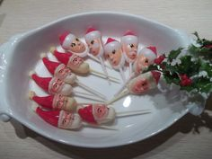 Mid century Vintage Christmas santa  picks for by HerminasCottage