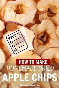 Love dried apples? Dehydrating apples at home will allow you to get the flavor and crispiness you love without spending a fortune. It's super simple. Apple Dehydrated apples make a great snack or can be used in baking. Learn how to make homeamde dried apple rings and chips in this step by step guide. #fromscratch #preservingfood #simpleliviving Dried Apple Rings, Dried Apple Chips, Dried Apples, Dried Fruit, Snack Recipes, Healthy Recipes, Snacks, Dehydrated Apples, Preserving Food