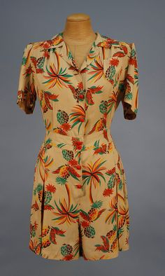 Adorable rayon play suit, 1950's.