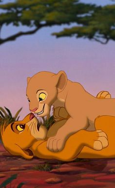 Simba e Nala Simba Disney, Art Disney, Disney Kunst, Disney Lion King, Disney Ideas, Disney Phone Wallpaper, Wallpaper Iphone Cute, Lion Wallpaper, Trendy Wallpaper