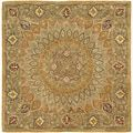 Top Product Reviews for Safavieh Handmade Heritage Timeless Traditional Light Brown/ Grey Wool Rug (6' Square) - Overstock.com - Mobile