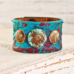 Spring Trends Turquoise Jewelry Leather Cuffs Bracelets Wristbands Southwest Hippie Hippy March Finds