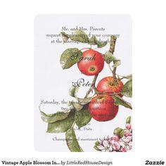 Vintage Apple Blossom Invitation