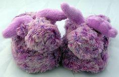 purple bunny slippers