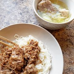 Went to the local grocery store for hwc, then saw that they had country style pork ribs on sale 🙌. So i trimmed the meat off the bone and stuck it in my instant pot and made asian pulled pork. And since i the bones still had some meat on them,  i made a simple asian soup with cabbage.  The asian pulled pork was basically i whole package of meat,  off the bone.  Add in 8-10 crushed garlic cloves,  1/2 cup white vinegar,  1/2 cup soy sauce,  4 bay leaves,  and a little powdered stevia…