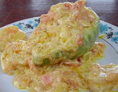 Hot Shrimp Avocado Halves