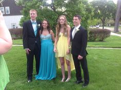Chris, Paige, Hayley and Evan CHS Senior Prom 2014