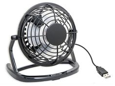 E-joy USB Powered Mini Ultra Quiet Cute Desktop Cooling Fan for Bedroom, Office, Outdoor, Etc (Black) Pc Computer, Desktop Computers, Cool Desk Toys, Adaptador Usb, Laptop Cooling Pad, Portable Fan, Usb Gadgets, Desk Fan, Mini