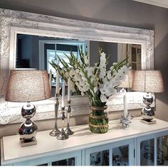 Those candlesticks all have to go but great texture and scale Foyer Decor Ideas candlesticks Great scale Texture Hallway Decorating, Entryway Decor, Interior Decorating, Decorating Ideas, Decoration Hall, Decorations, Deco Buffet, Living Room Decor, Bedroom Decor