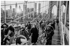 Brooklyn Bridge Crossing Vintage 1970s Photo with by eeBeeVintage