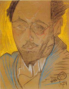 Roman Ingarden – portrait by Witkacy (1924)