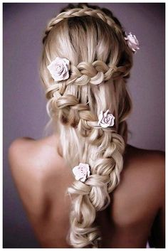 Wedding Hairstyles For Long Hair With Braids And Flowers | Hairstyles for Women