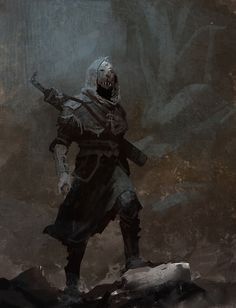 Symbaroum RPG: Masked Stranger (Image: Järnringen) - saving it for the cowl Fantasy Concept Art, Fantasy Character Design, Dark Fantasy Art, Fantasy Rpg, Medieval Fantasy, Character Design Inspiration, Character Concept, Dark Art, Fantasy Artwork
