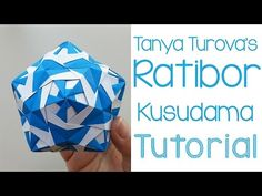 Kusudama Tutorial 'Confetti' - くす玉「紙吹雪」の作り方 - YouTube