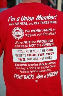I am a union member. Unions are what built the American middle class (that is now crumbling).