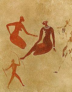 Ancient rock art of the indigenous, aboriginal people ( Ancient Berbers ) of Algeria.