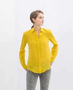 Image 1 of LONG SLEEVE BLOUSE from Zara