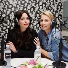 Sophia Amoruso with Charlize Theron on #girlboss Radio