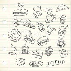 food doodle illustration