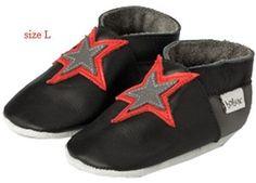chaussons noirs 'étoile' pour bébé