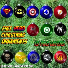 Hero Christmas Ornament PNG Layers - Click Image to Close