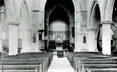 Interior of All Saints looking east about 1910