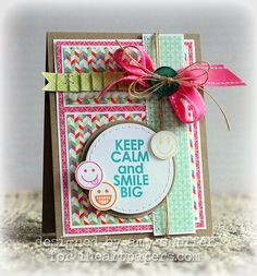 Great blend of patterns and cheerful hues. #handmade #cards #crafts #scrapbooking