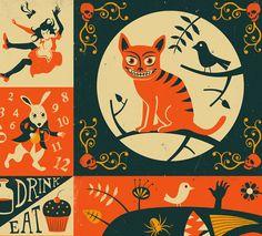 ALICE IN WONDERLAND Poster Giclee Fine Art Print by JazzberryBlue