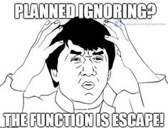 KNOW THE FUNCTION! Planned ignoring can be a useful intervention in certain situations (e.g. if the function of the behavior is attention), but it is imperative to know the function of the behavior before you plan to ignore it! If you ignore an escape maintained behavior, you may actually reinforce (increase) occurence of the behavior!