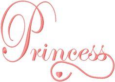 Princess free embroidery design