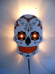 NECRA-LA CALAVERA!!!!FAVOLOSA APPLIQUE IN CERAMICA HAND MADE IN ITALY.!!! ONLY BY OLD STYLE ITALIANO-ROCK'N'ROLL SHOP  SEARCH IT ON FACEBOOK