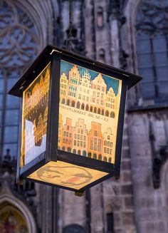 Seasonal lamps with local scenes - Münster, Germany