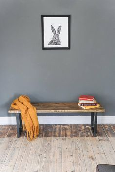 Box Leg Bench. rustic industrial furniture. reclaimed wood furniture. mid century hairpin legs.  vintage urban design Rustic Industrial Furniture, Reclaimed Wood Furniture, Modern Industrial, Home Workshop, Hairpin Legs, Furniture Movers, Urban Design, Bench, Mid Century